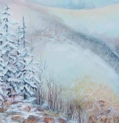 Terre paisible 122 x 92 cm, vendu à Thetford Mines